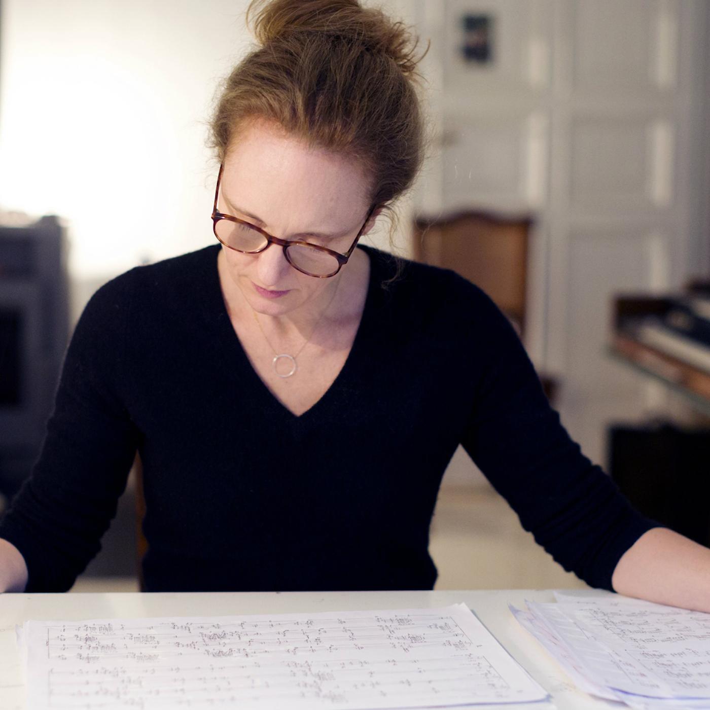 """Tonsättaren Rebecca Saunders – vinnare av """"musikens Nobelpris""""."""