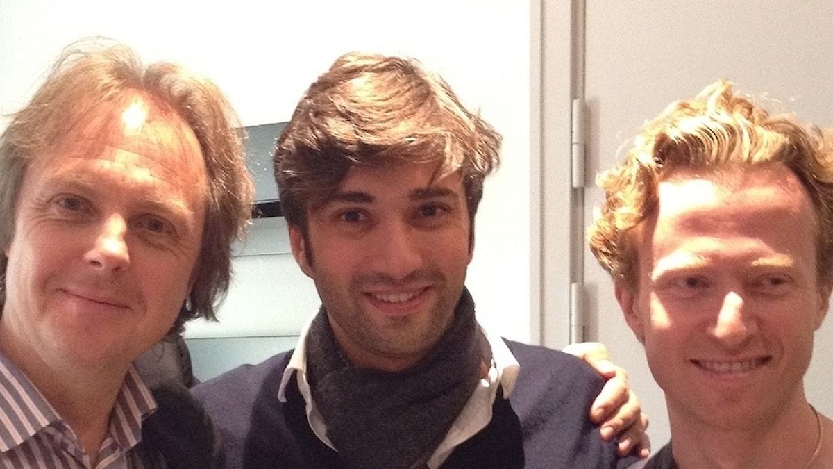 Tommie Haglund, David Afkham och Ernst Simon Glaser. Foto: Elisabet Löfberg Haglund.