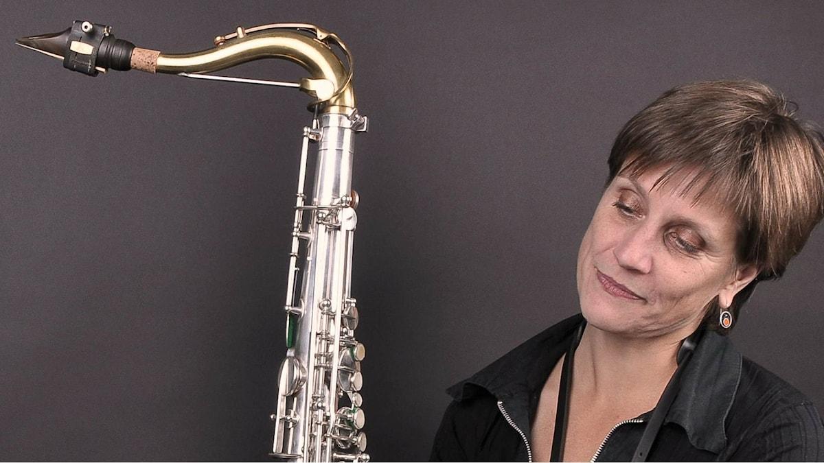 Danska kompositören, jazzsaxofonisten, arrangören och bandledaren Pernille Bévort, Köpenhammn. Foto: Jan Lindegaard Hansen