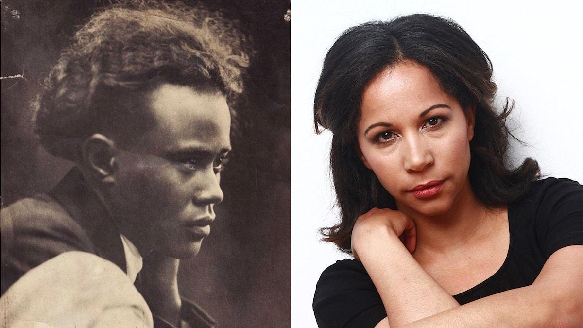Poeten Jean-Joseph Rabearivelo från Madagaskar och tonsättaren Tebogo Monnakgotla. Collage: Mikael Grönberg SR Foto.