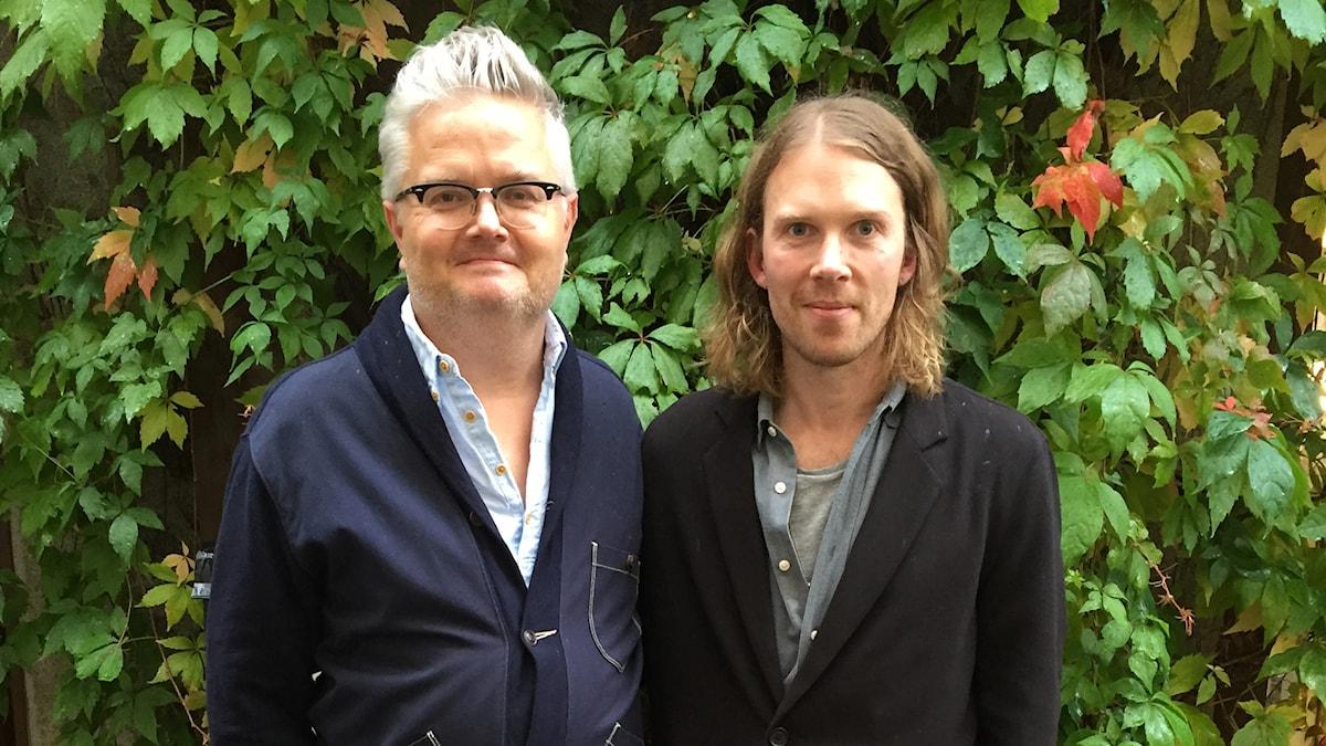 Jan Gradvall och Peder Stenberg. Foto: Lovisa Ohlson/SR.