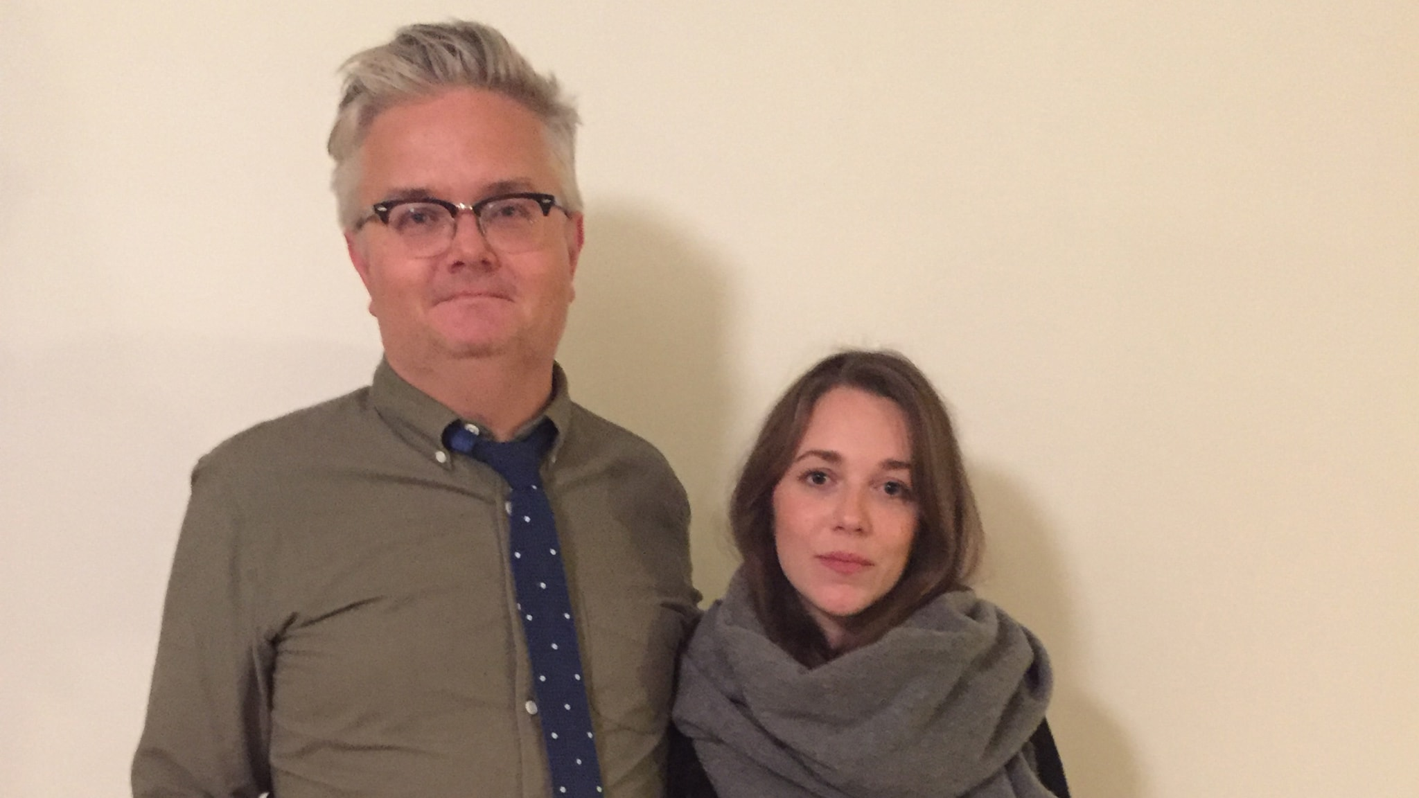 Jan Gradvall och Melissa Horn. Foto: Lovisa Ohlson/SR.