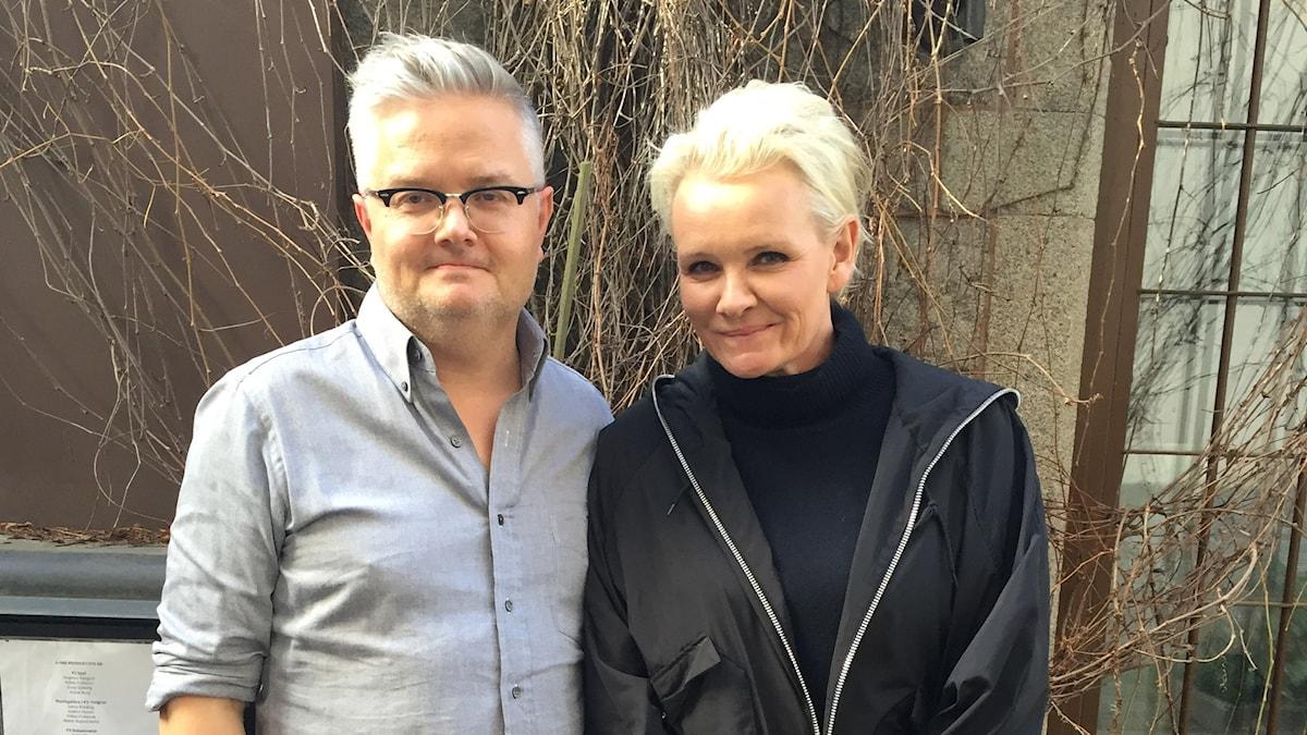 Jan Gradvall och Eva Dahlgren.
