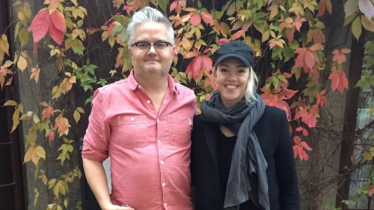 Jan Gradvall och Ana Diaz.