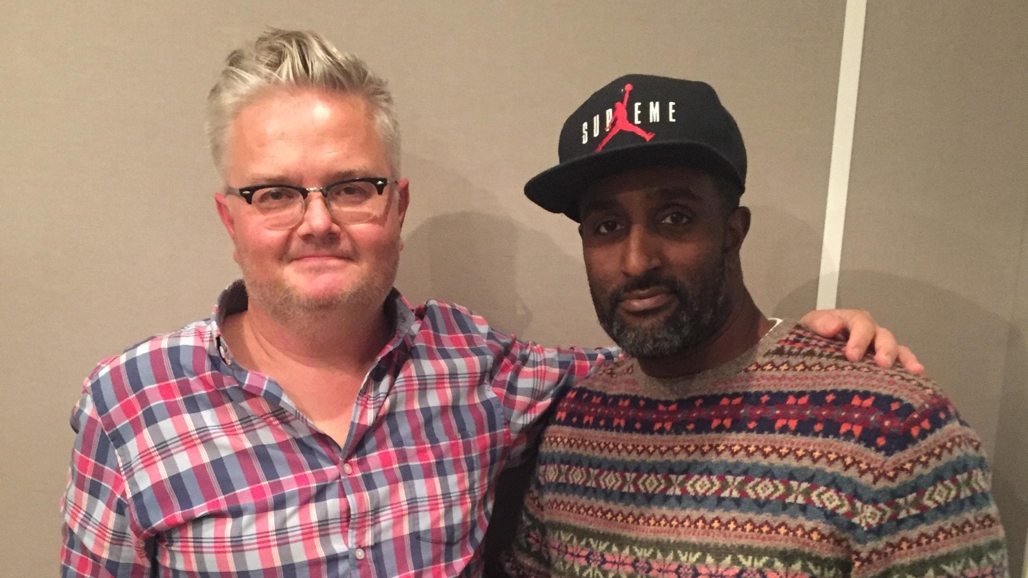 """Jan Gradvall och Patrik """"DJ Sleepy"""" Elofsson."""