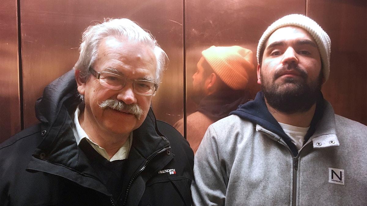 Far och son. Sergio Infante och rapparen Stor.