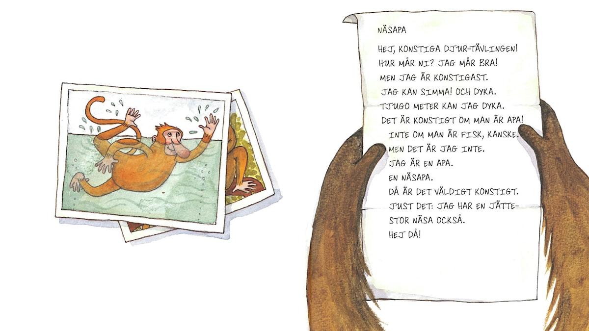 Konstiga djur, del 6. Illustration: Maria Nilsson Thore