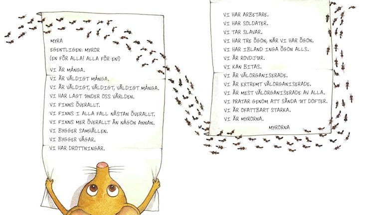Konstiga djur, del 9. Illustration: Maria Nilsson Thore