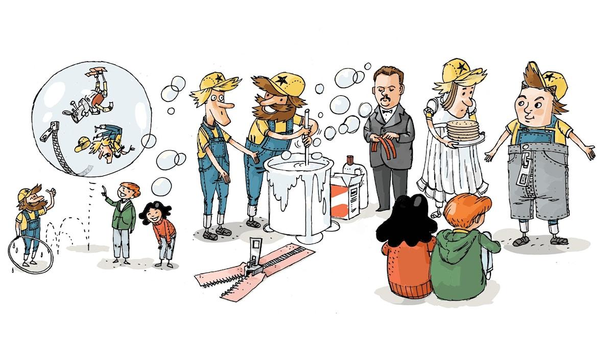 Uppfinnarklubben, del 8: Blixtlåset.Illustration: Anders Nyberg