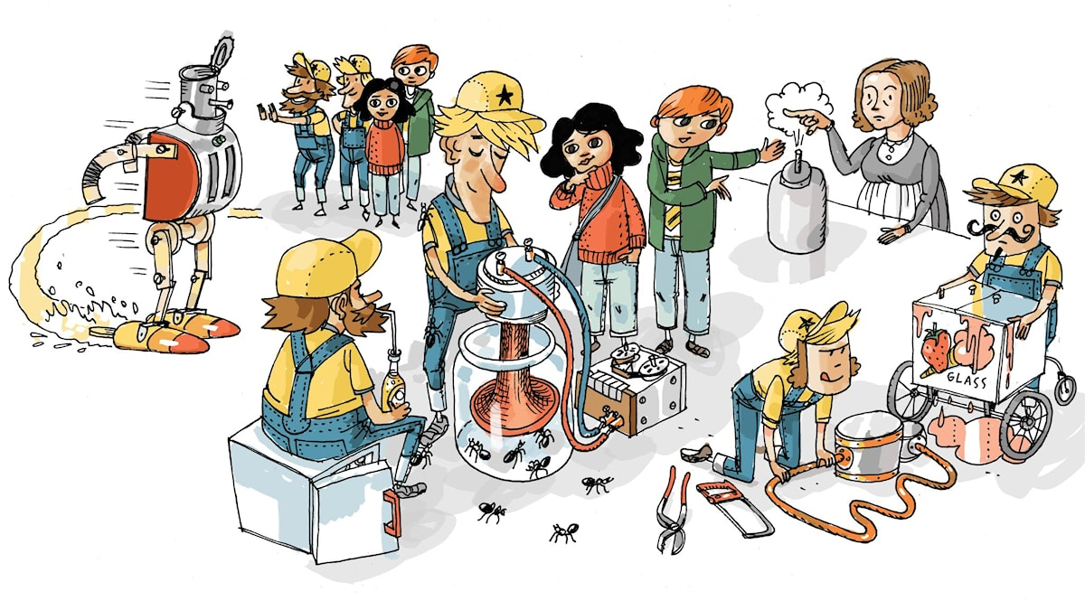 Uppfinnarklubben, del 5: Kylskåp. Illustration: Anders Nyberg