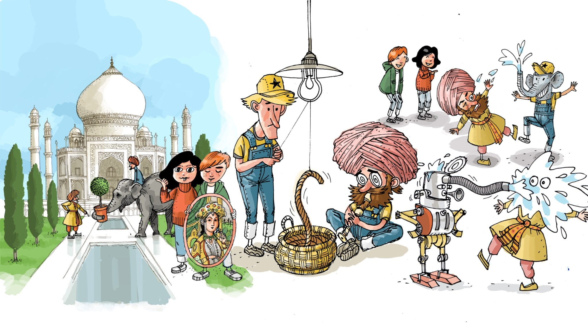 Underverksklubben, del 3: Taj Mahal. Illustration: Anders Nyberg