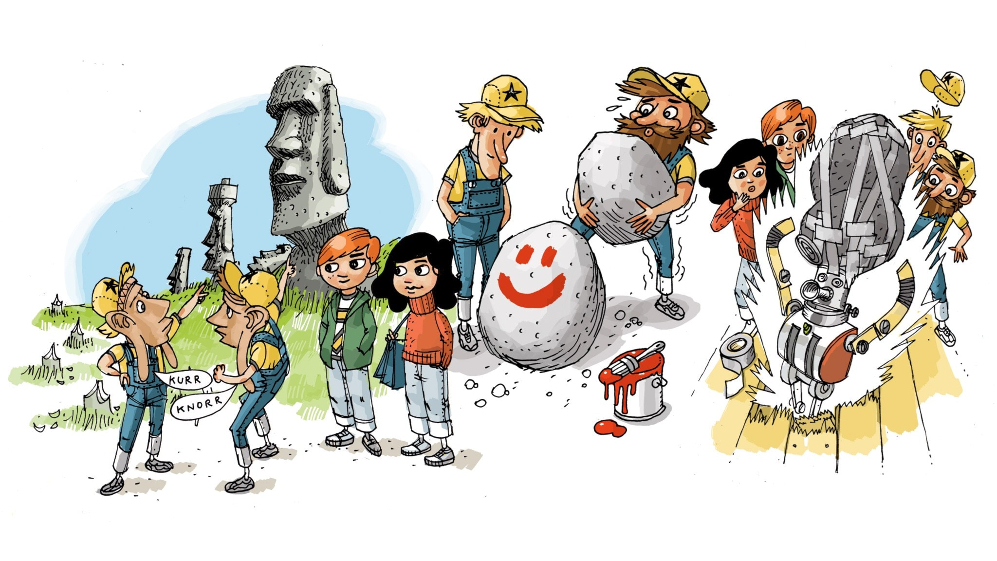Underverksklubben, del 2: Påskön Illustration: Anders Nyberg