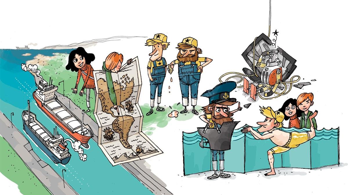 Underverksklubben, del 4: Panama. Illustration: Anders Nyberg