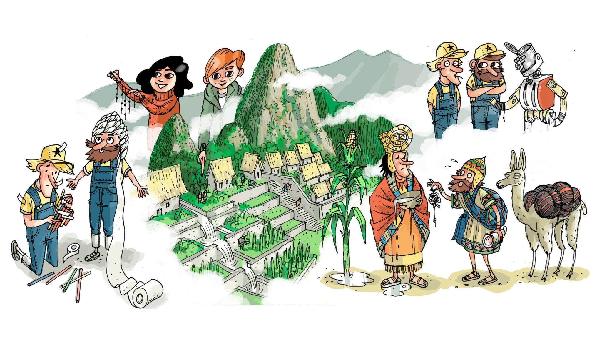Underverksklubben: Machu-Picchu. Illustration: Anders Nyberg