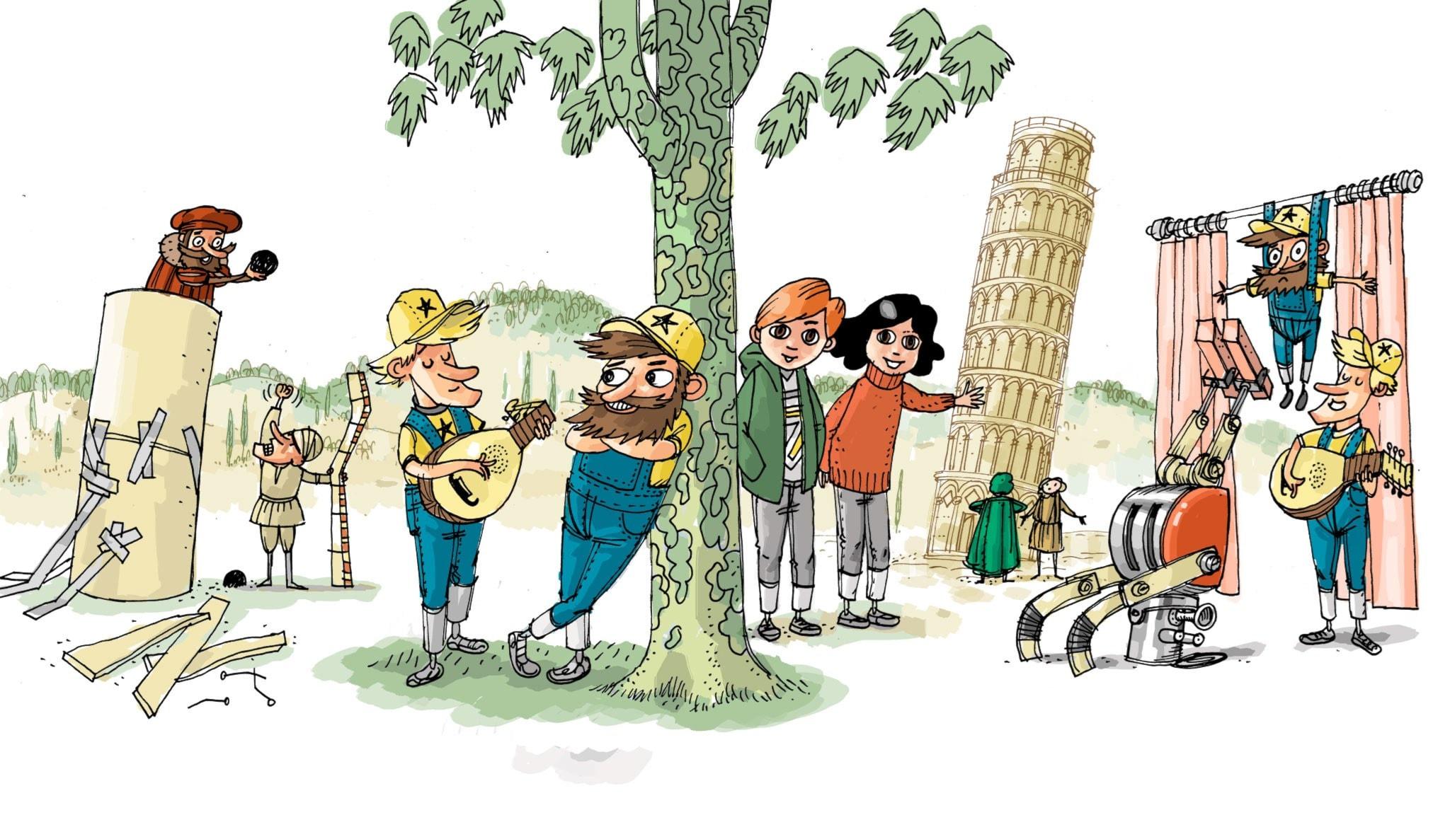Underverksklubben: Pisa. Illustration: Anders Nyberg