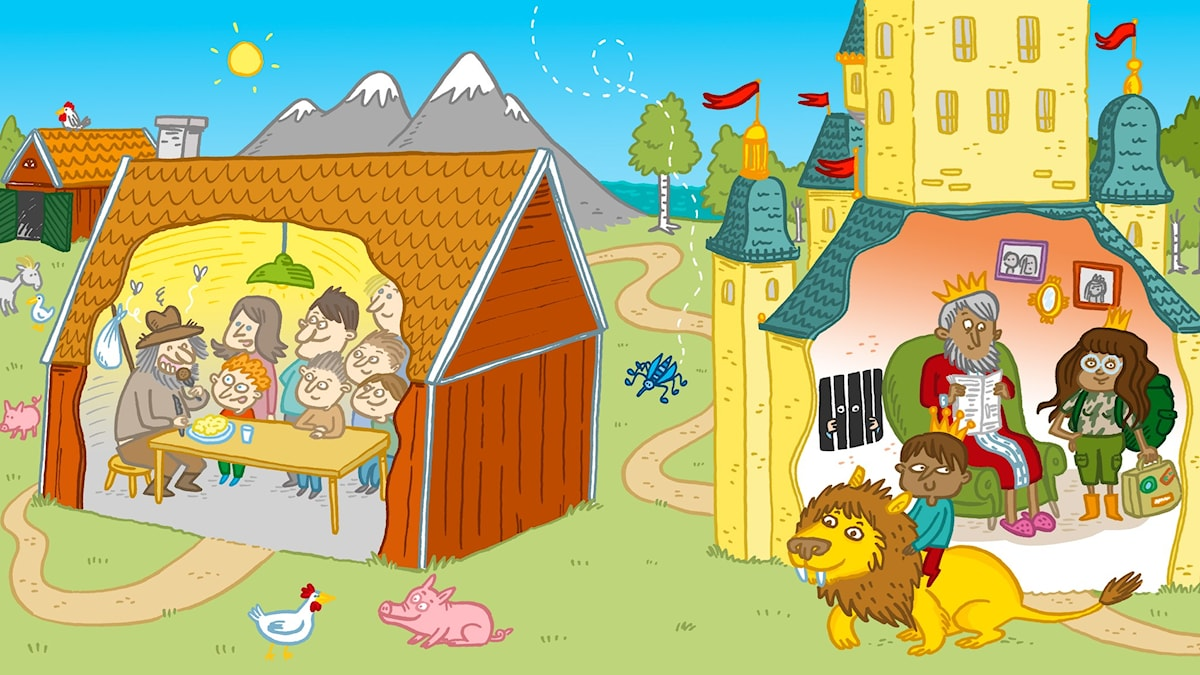 Sagotajm 3: Owe och prinsen. Illustration Johanna Kristiansson.