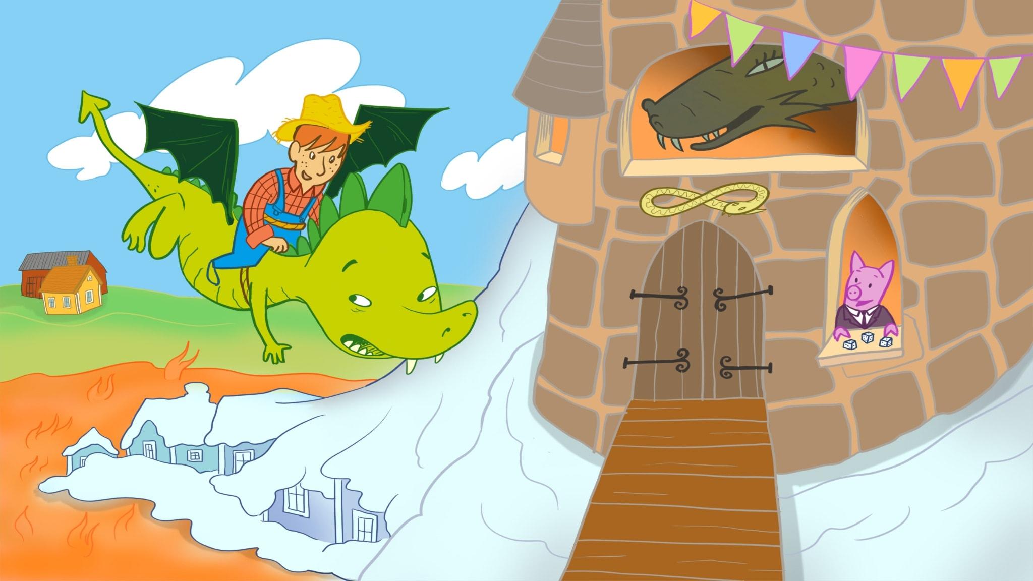 Smarre far till drakarnas land. Illustration: Ingrid Flygare