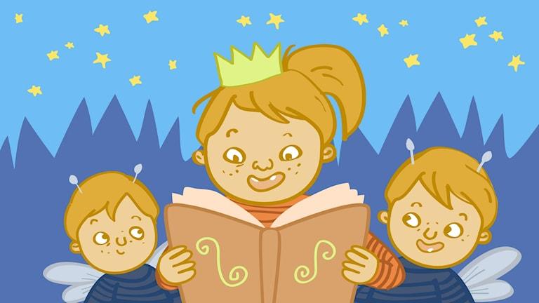 Spännande sagor med fantasifulla karaktärer för barn 3-8 år.