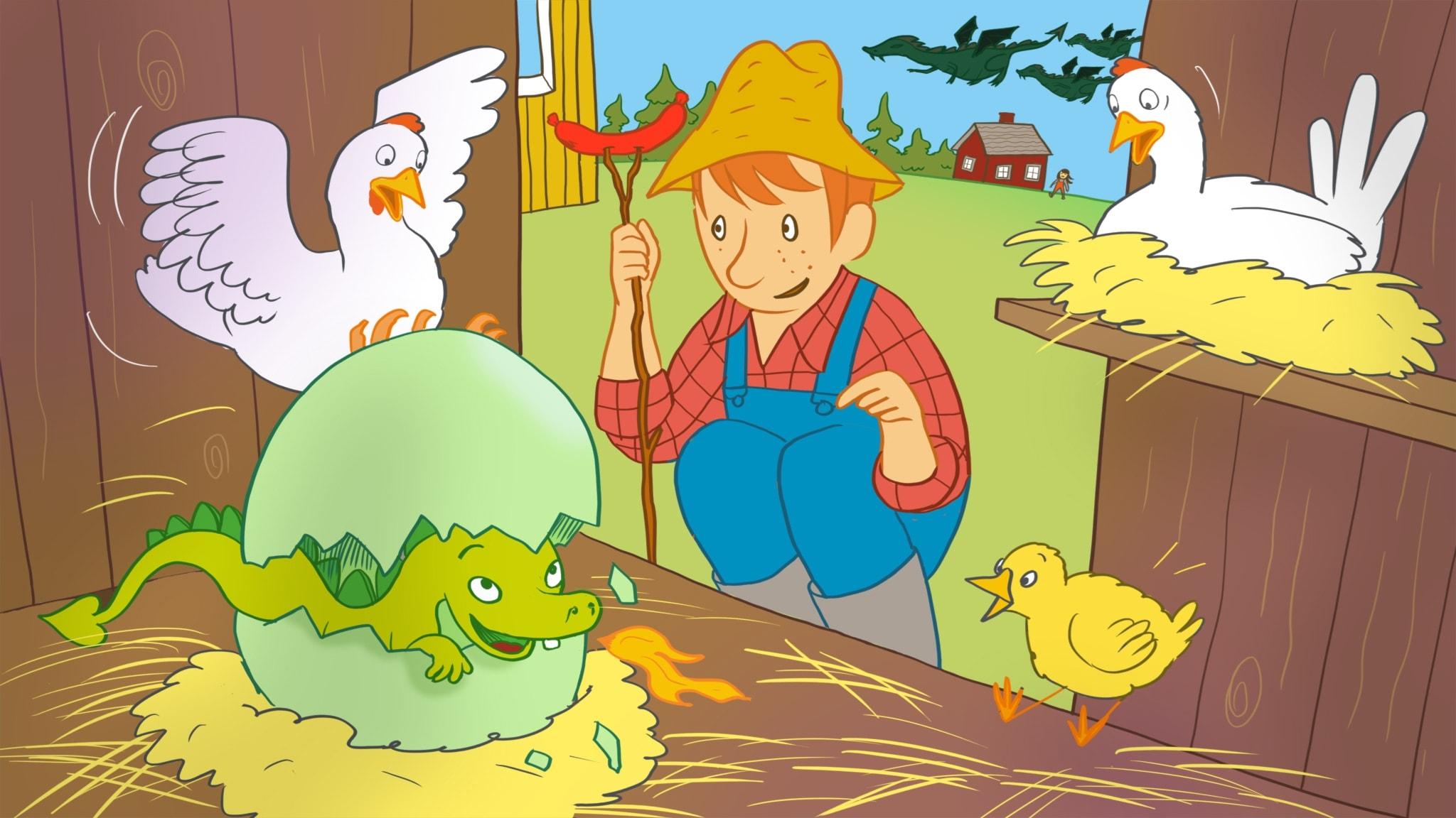 Sagan om ägget som aldrig ville kläckas. Illustration: Ingrid Flygare
