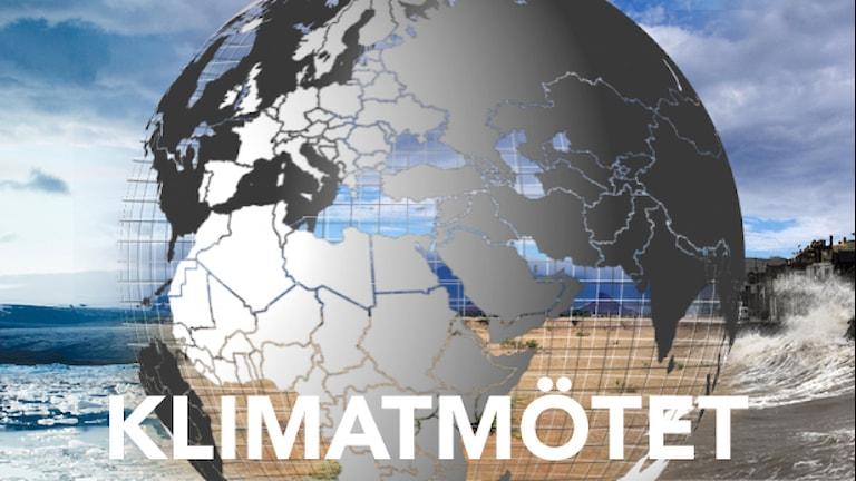Klimatmötet. Foto: Jay Mantri (CC0), Plane Mad (CC BY-SA 3.0), David Baird (CC BY-SA 2.0).