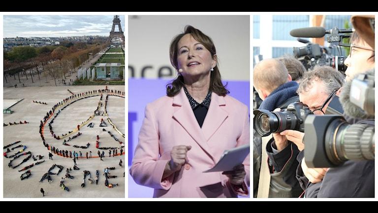 Frankrikes miljöminister Ségolène Royal har varit hett uppvaktad under veckan. Foto: TT, Unfccc (CC)
