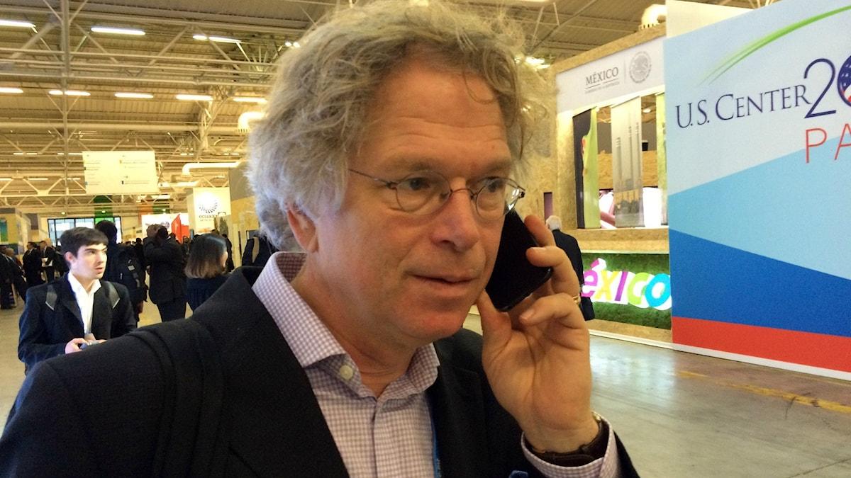 Björn-Ola Linnér är på plats på klimatmötet i Paris. Foto: Pelle Zettersten / Sveriges Radio