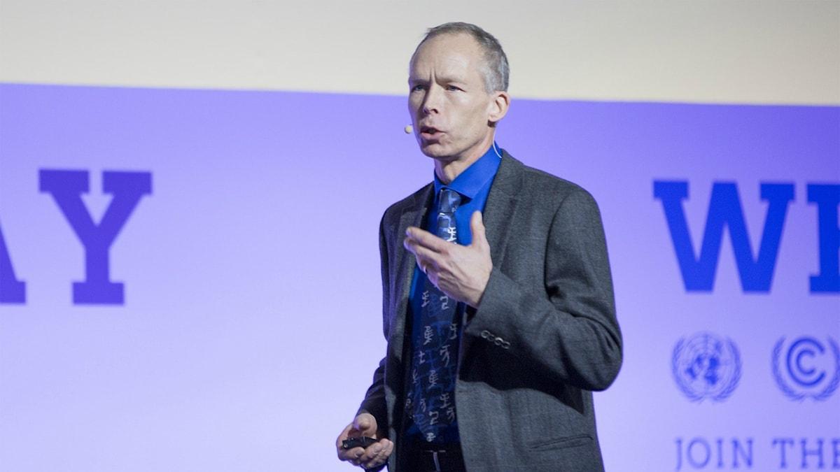Johan Rockström talade under COP21. Foto: Unfccc (CC)