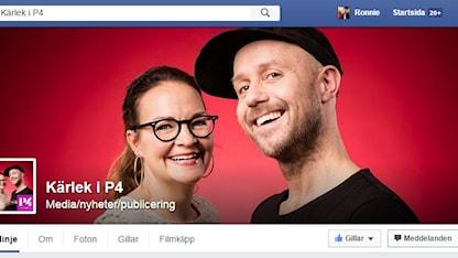 Kärlek i P4 finns på Facebook. Här kan du besöka sidan.