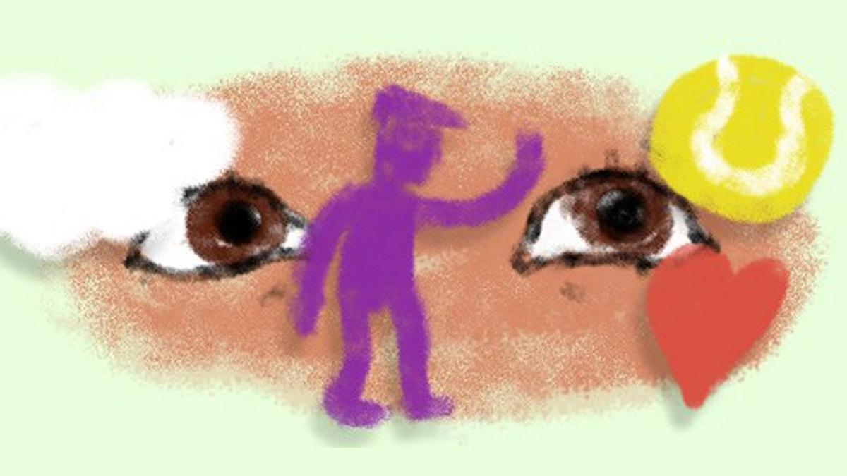 Fantasiresor del 2, 2011: Världens finaste gubbe. Illustration: Ingrid Flygare/Sveriges Radio