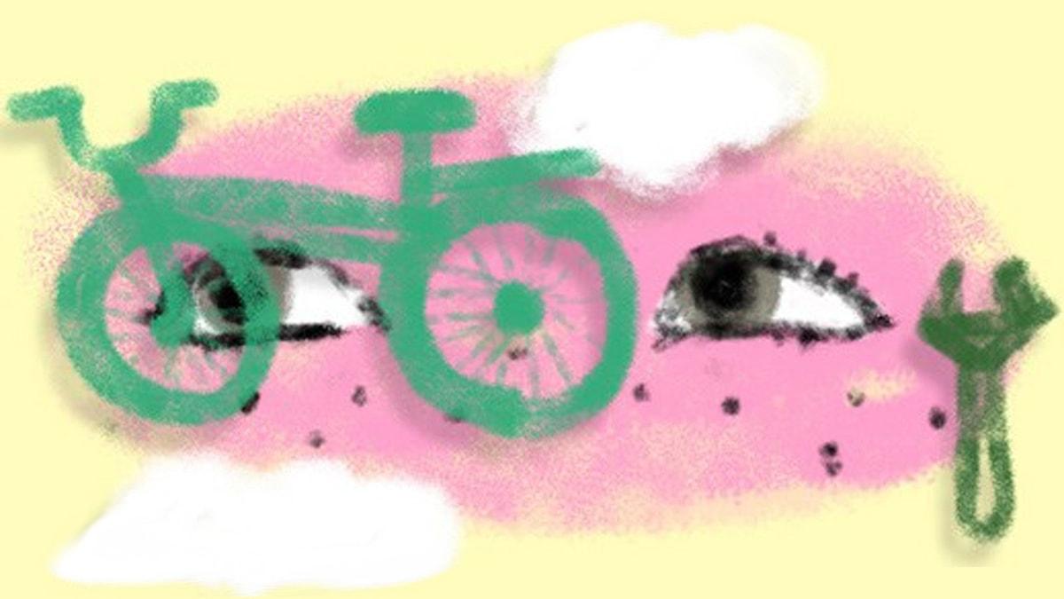 Fantasiresor del 5, 2011: Cykelturen. Illustration: Ingrid Flygare/Sveriges Radio
