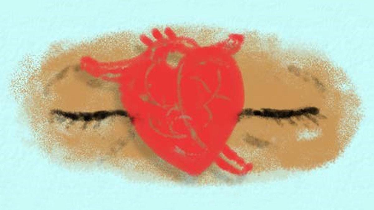 Fantasiresor del 6, 2012: Inuti min kropp. Illustration: Ingrid Flygare/Sveriges Radio