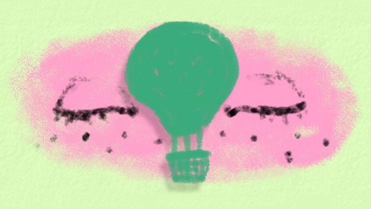 Fantasiresor del 7, 2012: Luftballongen. Illustration: Ingrid Flygare/Sveriges Radio