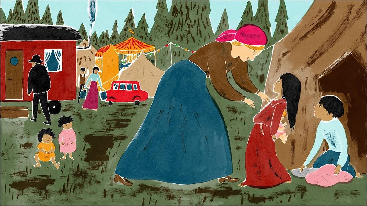 Katitzi del 7. Illustration: Joanna Hellgren.