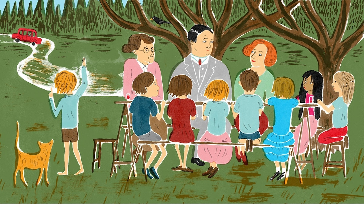 Katitzi del 6. Illustration: Joanna Hellgren.