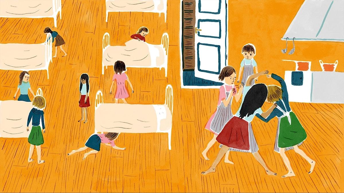 Katitzi del 5. Illustration: Joanna Hellgren.