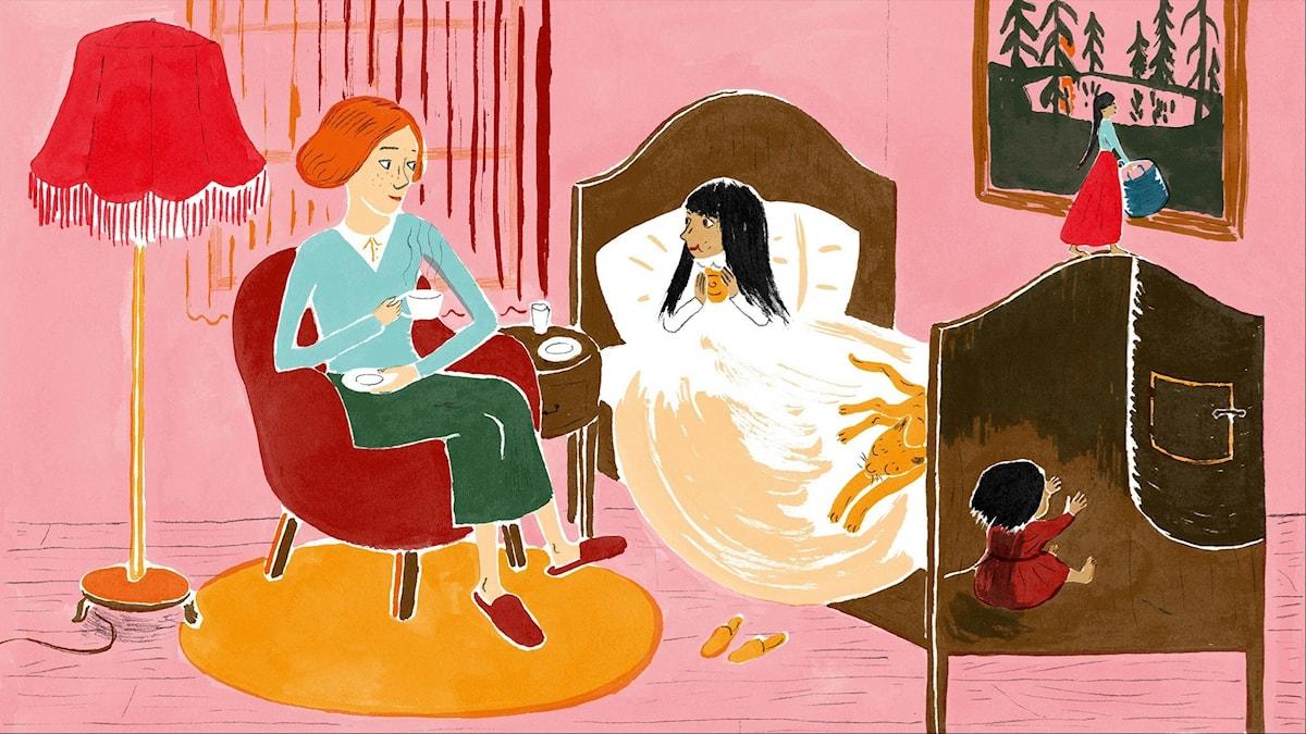 Katitzi del 4. Illustration: Joanna Hellgren.