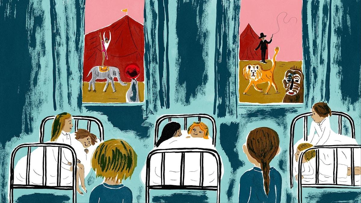 Katitzi del 3. Illustration: Joanna Hellgren.