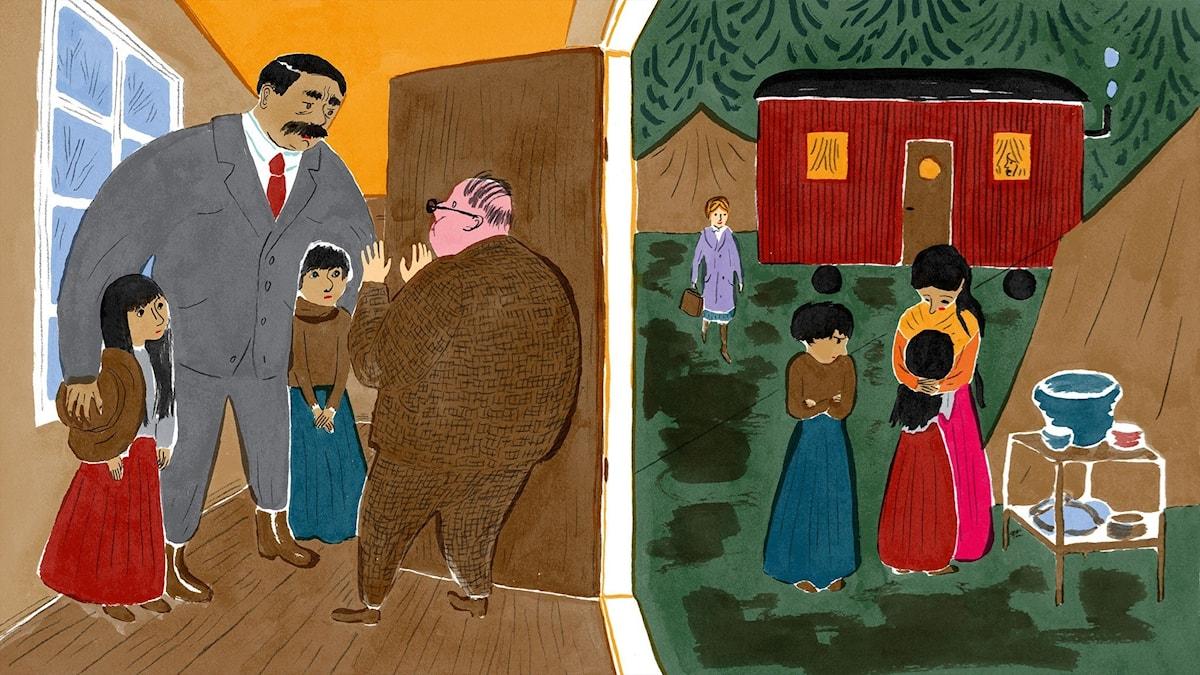 Katitzi del 14. Illustration: Joanna Hellgren.