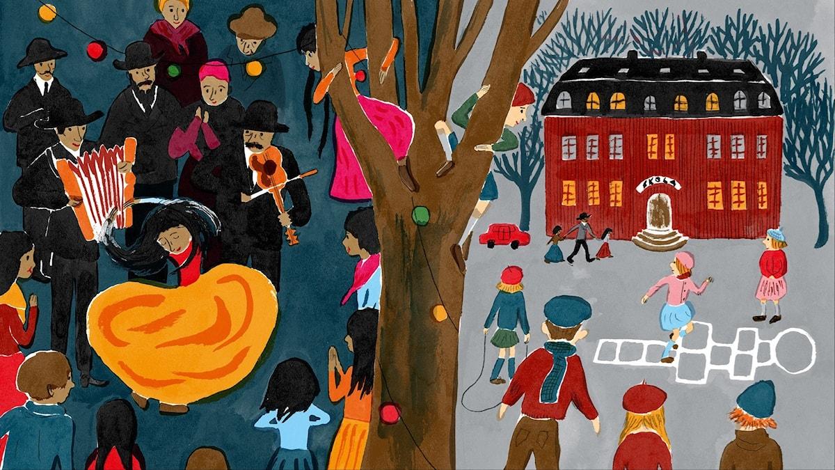 Katitzi del 13. Illustration: Joanna Hellgren.