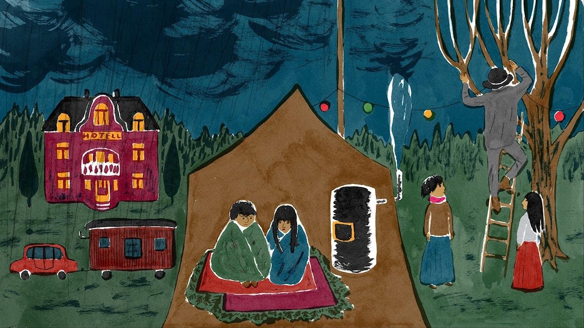 Katitzi del 12. Illustration: Joanna Hellgren.