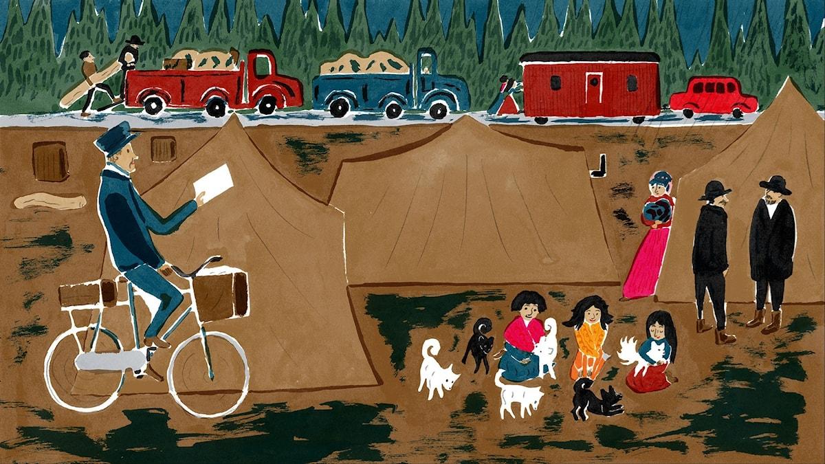 Katitzi del 11. Illustration: Joanna Hellgren.