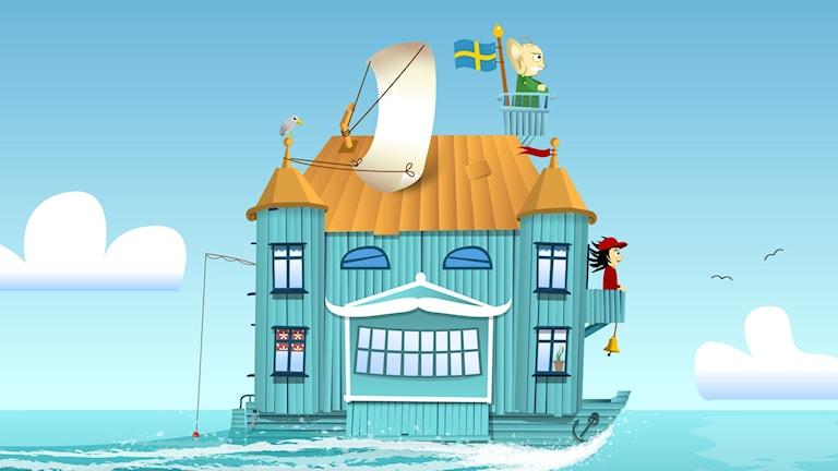 Berättelsen om hotellet som gav sig av till sjöss med gäster och allt.