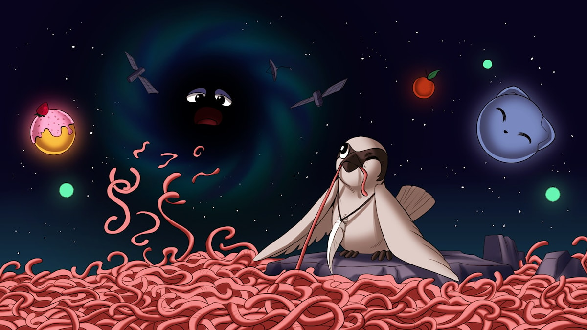 Rymdfåglar, del 3. Illustration: Gabrielle Nilsson