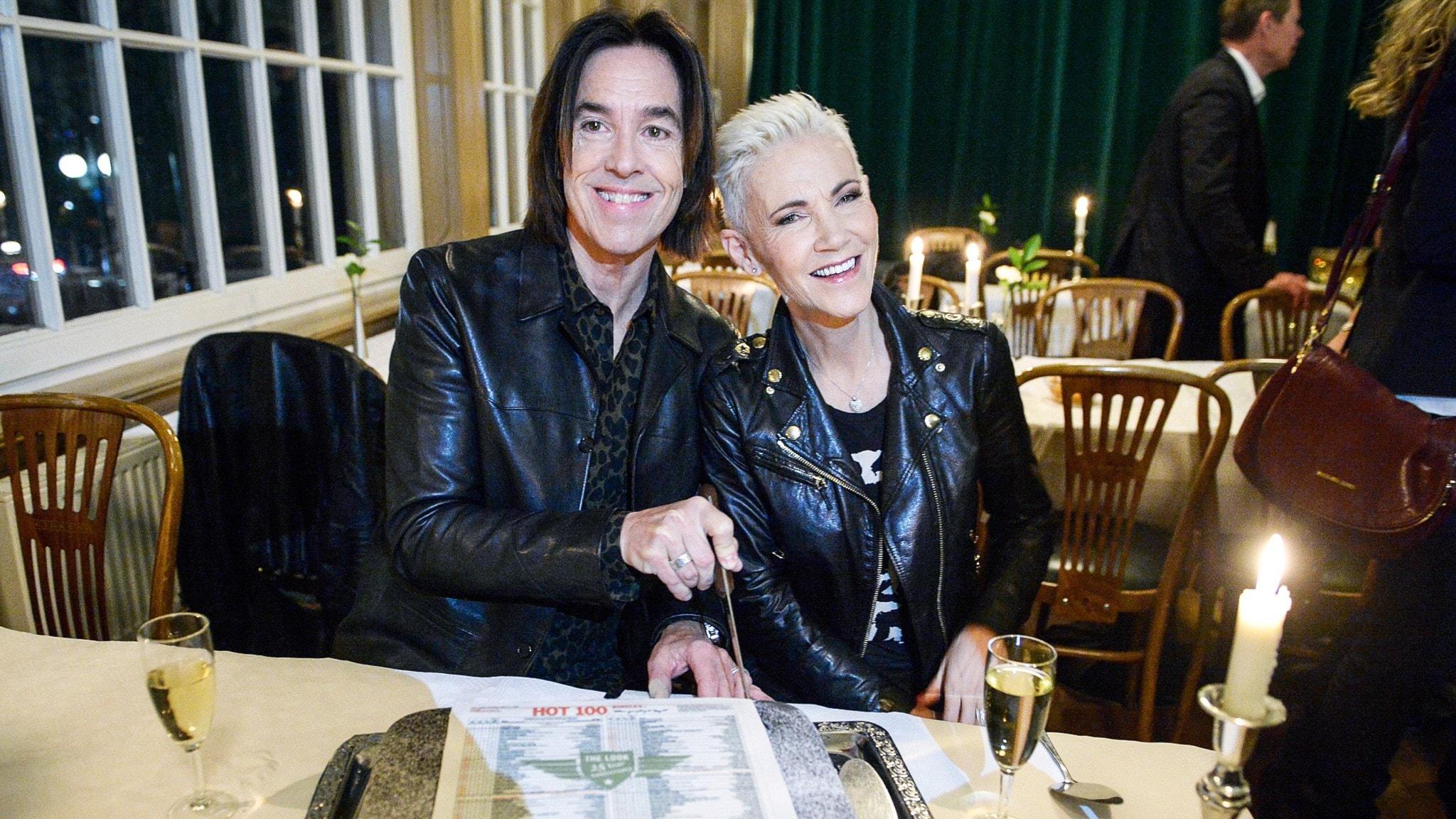 Artisterna Per Gessle och Marie Fredriksson från 2014