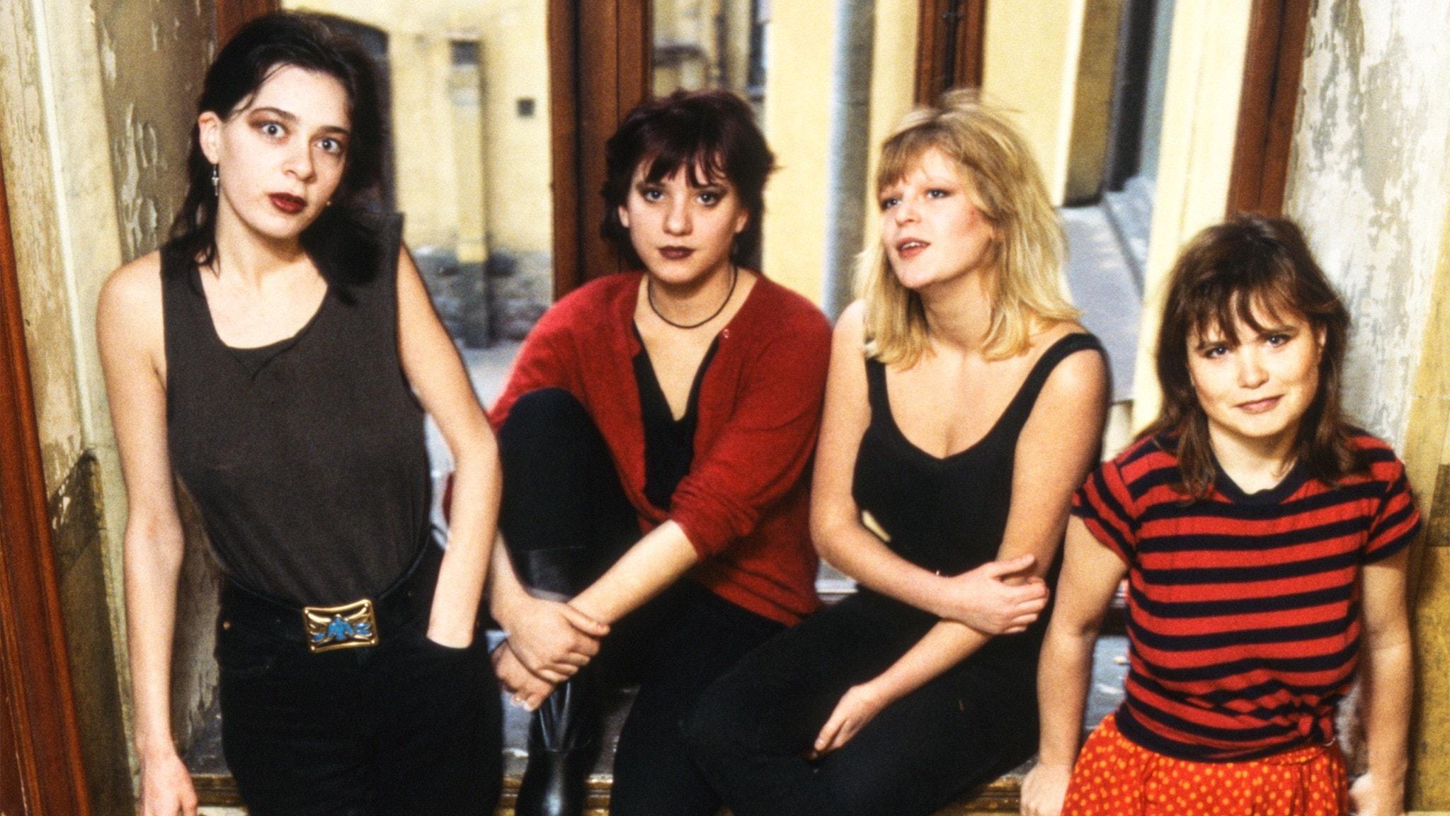 Punkbandet Tant Strul från 1982. Nike Nojja, Malena Jönsson, Kajsa Grytt och Liten Falkeholm