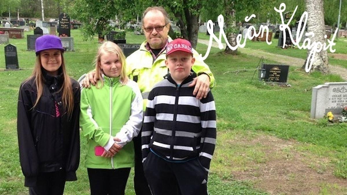 Therese Mattila, Lotta Teräs, Olle Niemi ja Anton Hietaniemi.
