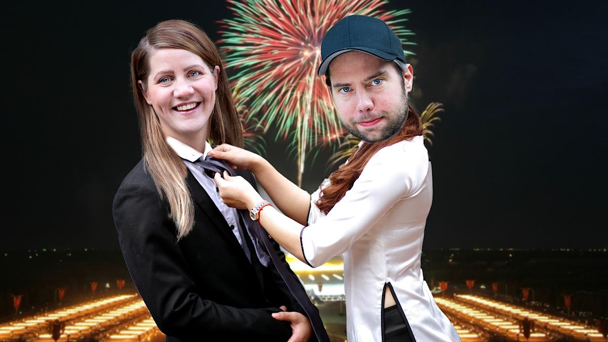 Emma och Rasmus firar nyår