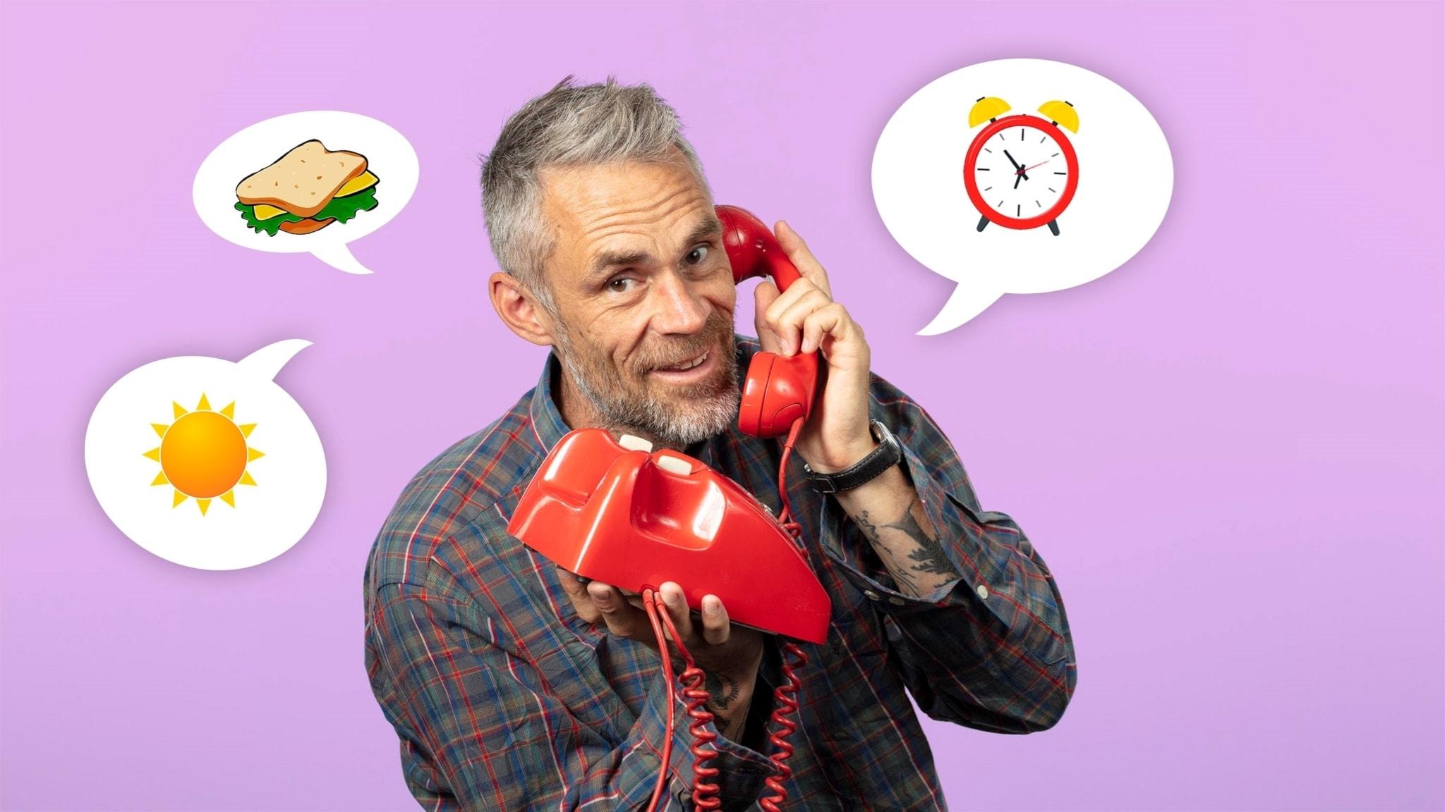 Jonas Leksell, Barnmorgon, med telefon