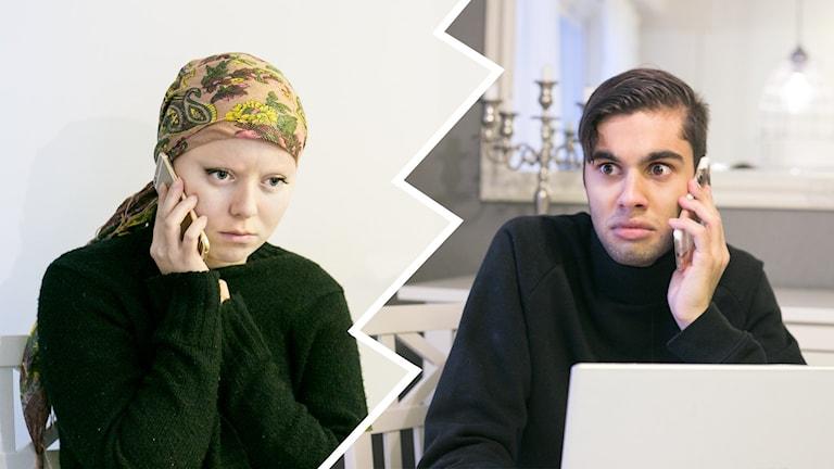 Linda Ulfielm och William Spetz. Foto: Helena Andersson/Sveriges Radio