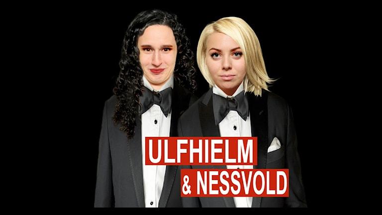 Hampus och Linda gör parodi på Wahlgren och Wistams podd.